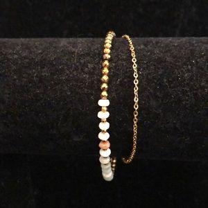 Merx Jewelry - Merx Light Grey/ Gold Bracelet